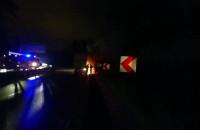 Pożar ciężarówki na Estakadzie Kwiatkowskiego