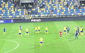 Podziękowania po meczu Arka Gdynia - Chrobry Głogów