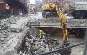 Rozbiórka tunelu dworca PKP w Gdańsku