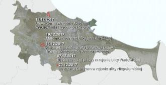 Biuro Rozwoju Gdańska. Grudzień 2017. Wyłożenia nowych planów zagospodarowania przestrzennego