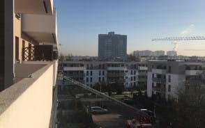 Strażacy ratują ptaszka na balkonie
