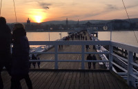 Piękna pogoda i świąteczny klimat w Sopocie