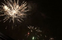 Jasien wita Nowy Rok - mega fajerwerki