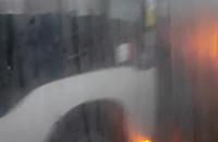 Wypadek Gdynia rozbite szyby autobusu