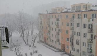 Niedzielne opady śniegu