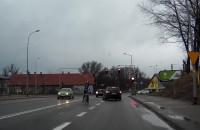 Zajechał drogę rowerzyście