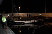 Jacht Knudel na powierzchni