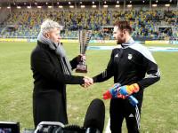 Pavels Steinbors odbiera nagrodę dla Ligowca Roku
