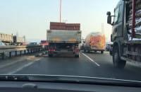 Zepsuta ciężarówka winna korka na Estakadzie