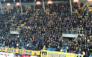 Doping kibiców na meczu Arka Gdynia - Termalica Nieciecza