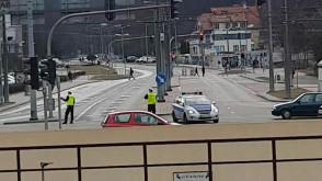 Policja kieruje ruchem w centrum Gdyni