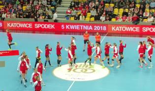Polska - Czarnogóra w Gdyni. Hymn narodowy