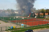 Pożar na Oruni