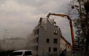 Rozbiórka budynku przy ul. Piekarniczej