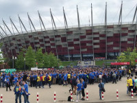 Arkowcy powoli wchodzą na Stadion Narodowy