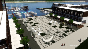 Marina w Wiślince - materiały AKO Architekci
