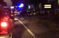 Wypadek w nowym tuchomiu auto w rowie