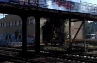 Zadymienie na wiadukcie SKM Gdańsk Stocznia