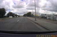 Kierowca zawrócił na zakazie na Elbląskiej
