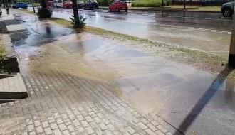 Wycieka woda na Kartuskiej 149
