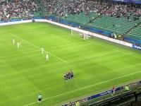 Radość piłkarzy Arki po golu na 1:1 w Superpucharze Polski