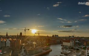 Widok na miasto Gdańsk