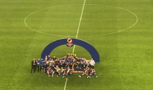 Piłkarze Arki Gdynia z Superpucharem Polski 2018