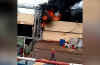 Pożar śrutowni w Naucie