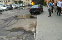Pożar samochodu na Warneńskiej
