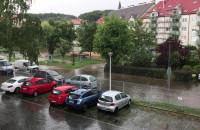 Gdynia Dąbrowa, ul. Gorczycowa zalana