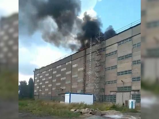 Pożar hali w Stoczni Gdańskiej