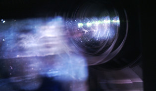 Z kamerą w: projektorni kinowej