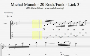MM 20 Rock-Funk Licks - Moje autorskie zagrywki! Nauka gry na gitarze.