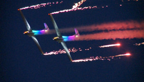 Nocne pokazy lotnicze AeroBaltic 2018