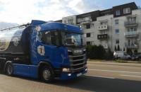 Przejazd ciężarówek przez Gdańsk