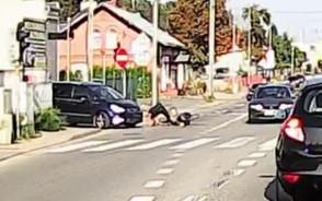 Potrącenie rowerzysty na Świętokrzyskiej