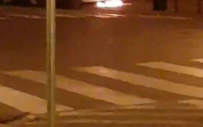 Pożar auta w Gdańsku na Szerokiej