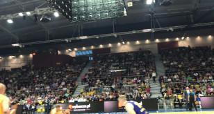 Pełna hala na meczu Arki z Barceloną