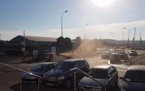 Zanieczyszczenia powietrza przy porcie w Gdyni
