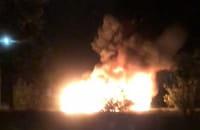 Pożar pojazdów na Chełmie