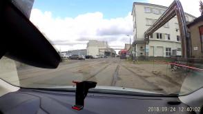 Fatalny stan nawierzchni na objeździe do Dalmoru podczas budowy gdyńskiej Mariny
