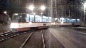 Tramwaj Pesa taranuje inny tramwaj przy zajezdni w Gdańsku