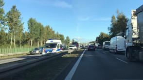 Stłuczka na wysokości Owczarni w stronę Gdańska