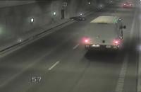 Wypadek skutera w tunelu pod Martwą Wisłą