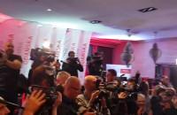 Paweł Adamowicz - ogłoszenie wyników w sztabie wyborczym