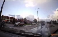 Kierowca prawie potrącił pieszą w Pruszczu Gdańskim
