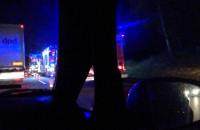 Cztery ciężarówki zderzyły się na obwodnicy