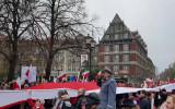Hymn Polski na zakończenie Parady Niepodległości w Gdańsku
