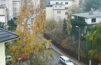 Sznurek aut na Beniowskiego w Gdyni