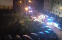 Akcja straży pożarnej Gdynia Tuwima 6